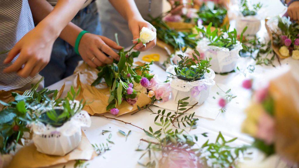 fiori e candeline laboratori floreali milano