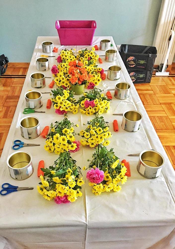 laboratori bambini fiori allestimento