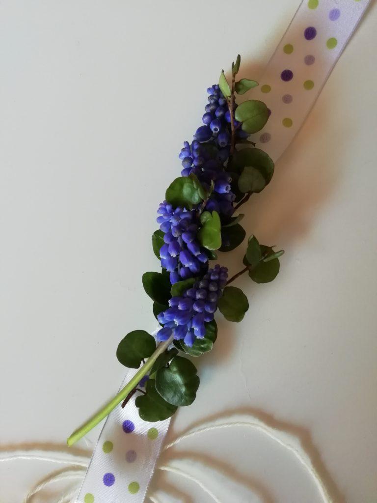 tutorial braccialetto di fiori freschi